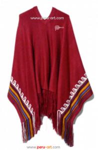 Poncho Peru Rojo