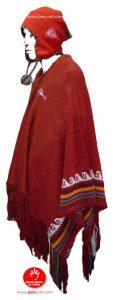 Poncho Peru Rojo completo lateral